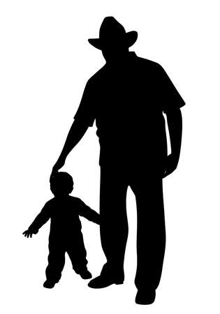 Grandfather with child 스톡 콘텐츠 - 127693919
