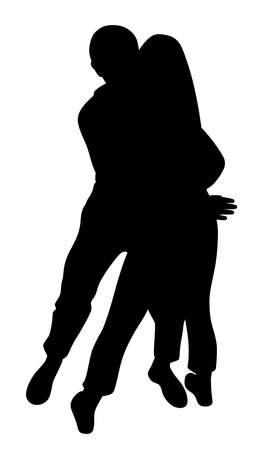 Couple passionately hug