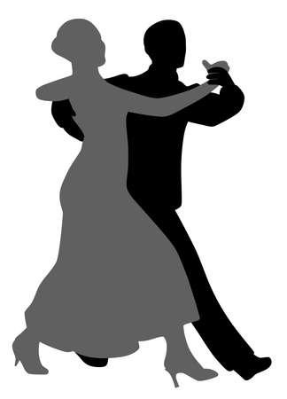 Paar Salsa-Tango-Tänzer