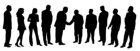 Business people group at a meeting shaking hands