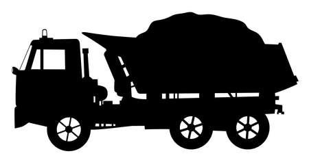 Tipper dump truck loaded