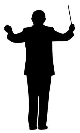 Music conductor silhouette Illustration