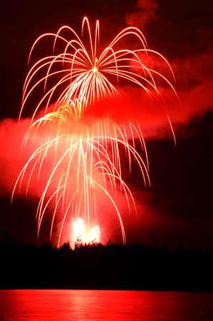 Fireworks over Stanley Park