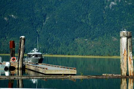 Dock at Pitt Lake Stock Photo