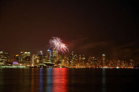 Canada Day Fireworks over Vancouver photo