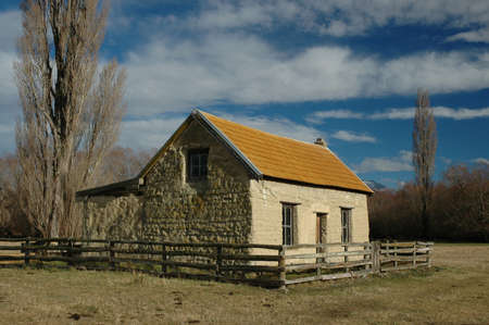 Historic Farm House Stock Photo