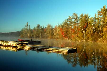 Sunrise on Flack lake, Ontario