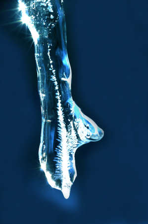 Abstract icicle in the shape of a hand Stock Photo