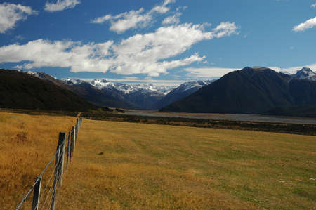 The Waimakariri river flood plain in New Zealands South Island
