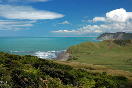 East coast of New Zealand coastline in the summer