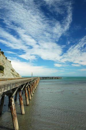 Jetty at Tokumaru Bay on the East coast of New Zealand