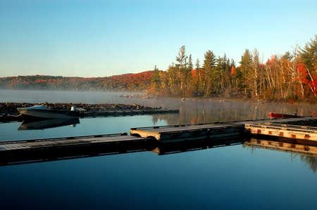 flack: Sunrise on Flack lake, Ontario
