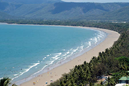 Sunny Port Douglas beach and coastline, Queensland, Australia Stock Photo