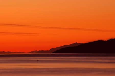 Sunset at Burard Inlet, Vancouver, British Columbia