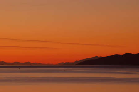 Sunset over Burard Inlet in Vancouver