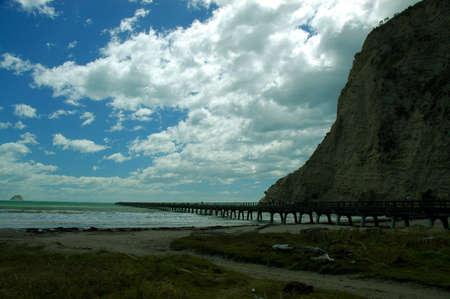 Tologa Bay jetty scene from New Zealand
