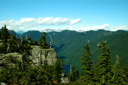 watershed: A View of the Seymour watershed from Patons Lookout in North Vancouver