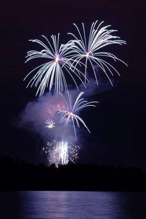 Celebration of light fireworks display over Stanley Park in Vancouver Zdjęcie Seryjne
