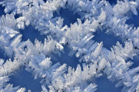 Fine ice crystals on netting formed by hoar frost Zdjęcie Seryjne