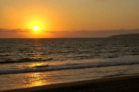 Beautiful pacific coast sunset in Mexico