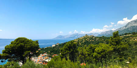 Beautiful view from the height of the town of Krvavice, near Makarska. Ba?ku Vodu.