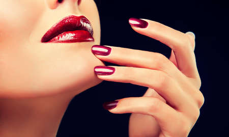 finger tip: Luxury fashion style, manicure, cosmetics and make-up