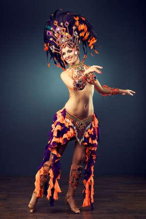 dancing girl in the carnival costume
