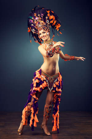 dancing girl in the carnival costume