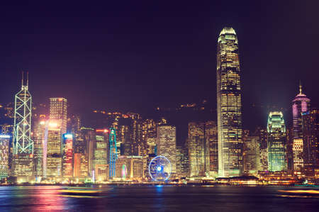 hong kong night: Hong Kong, China,night  view