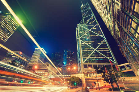 city lights: Hong Kong, China,night  view