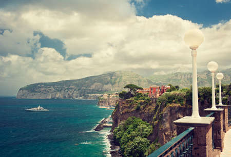 sorrento: Sorrento place Italy cliff and beach
