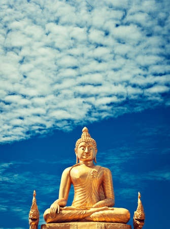 big buddha: Golden Buddha statue of Big Buddha over blue sky Phuket