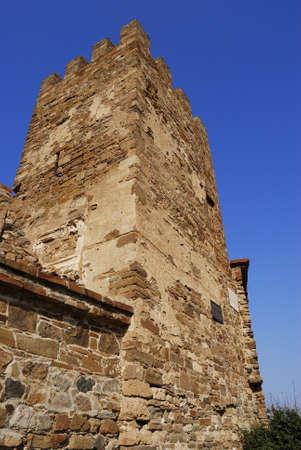Sudak Genoa fortress wall photo
