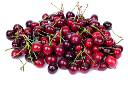 cherries: Cherry fruits isolated on white background