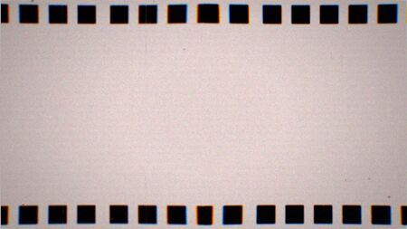 Vintage VHS film negative strip. Old reel overlay with dirt, defects, noise, scratches, camera roll burns, grain and dust. Set TV tape glitch effect 4K 3D render on black background