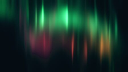 Realistic Aurora Borealis or Northern lights. Bright and beautiful green and pink polar light curtains on black background. 3D illustration overlay with alpha channel matte for compositing Reklamní fotografie