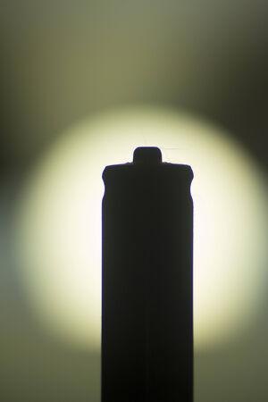 aaa: AAA Battery silhouette photo.