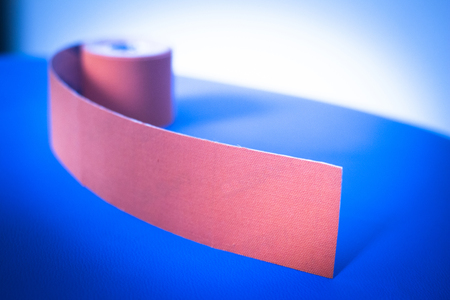 color therapist: Physiotape physiotherapy color tape bandage for taping treatment in real life hospital clinic.