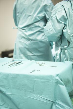 instrumentation: Traumatology orthopedic surgery hospital emergency operating room instrument nurse  instrumentation instruments prepared for arthroscopy operation photo.