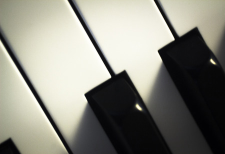 Piano concert keyboard keys in nightclub classical jazz music concert wedding reception party.