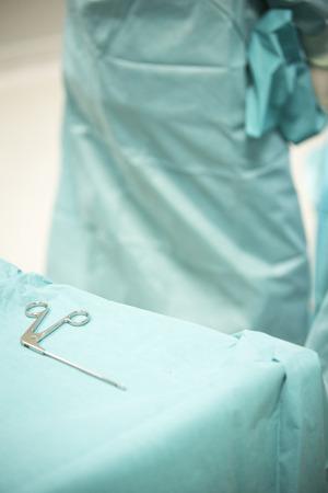 traumatology: Traumatology orthopedic surgery hospital emergency operating room instrument nurse  instrumentation instruments prepared for arthroscopy operation photo.