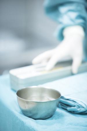 traumatology: Traumatology orthopedic surgery hospital emergency operating room prepared for arthroscopy operation photo.