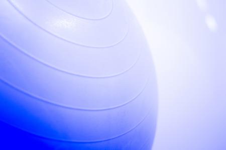 pursuits: Fitness, yoga and pilates foam ball in gymnasium yoga studio. Stock Photo
