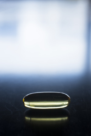 food supplement: Cod liver fish oil omega 3, 6 and 9 capsule health food supplement.