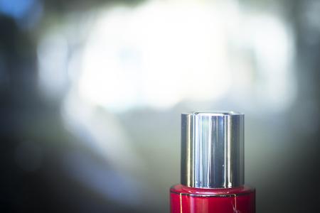 beauty shop: Shop store window face beauty moisturizer cream jar on sale photo. Stock Photo