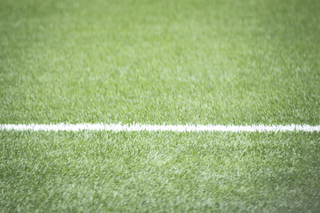 football pitch: Soccer football pitch white line and grass.