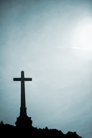 christian marriage: Wedding christian church marriage cross and sky,