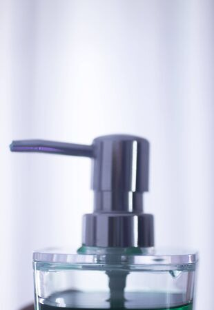 hygenic: Hand soap hygiene liquid dispenser for washing hands.