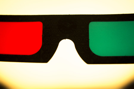3d dimensional: 3d three dimensional glasses to watch 3-d films on television photo.