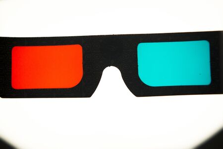 stereoscopic: 3d three dimensional glasses to watch 3-d films on television photo.